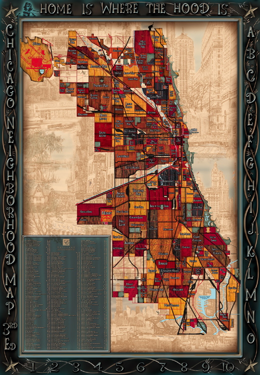 Chicago Neighborhood Map 3rd Edition