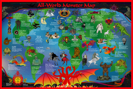 All-World Monster Map