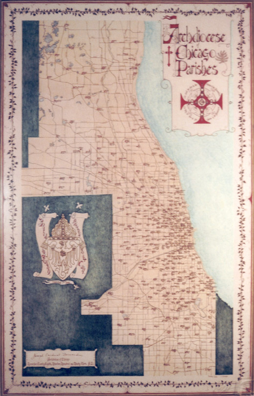 Archdiocese of Chicago Parish Map